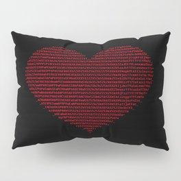 ASCII heart C64 Pillow Sham