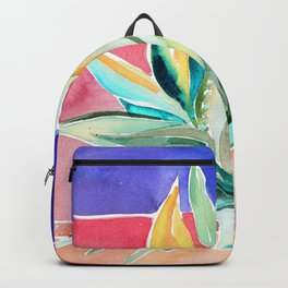 Agave From Toledo Spain Pink & Deep Purple Backpack
