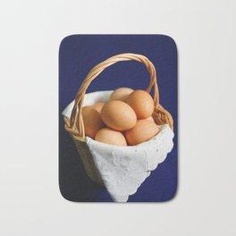 Eggs in a basket Bath Mat