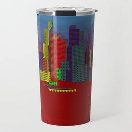 red cityscape Travel Mug