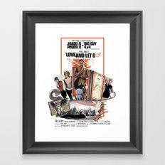 Love and Let Go - Movie poster mash-up Framed Art Print