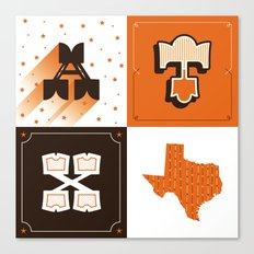 Austin, Texas Orange Canvas Print