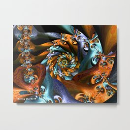 Spiraled Tabbies Metal Print