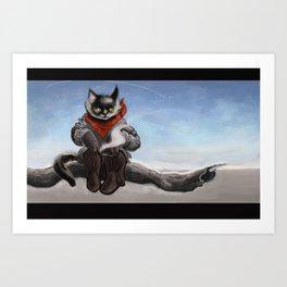 catboy cowcat Art Print