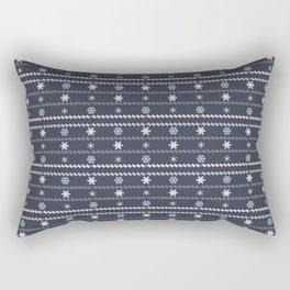 Winter Flakes Pattern Rectangular Pillow