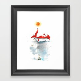 Moment mal. Framed Art Print