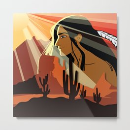 American Natives And Patterns No. 48 Metal Print