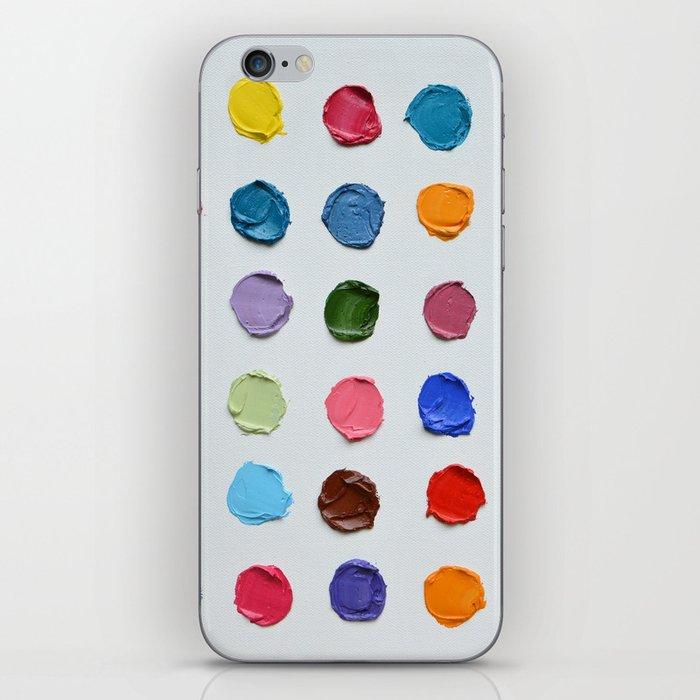 Rainbow Polka Daubs iPhone Skin