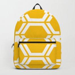 Golden poppy - yellow - Geometric Polygon Pattern Backpack