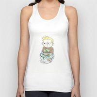 aquaman Tank Tops featuring Baby Arthur by Eric Dockery