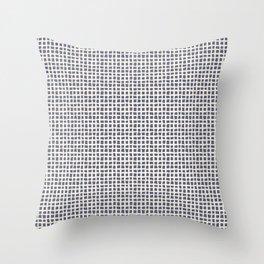 Blue Scribbles Pattern 07 Throw Pillow