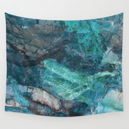 Cerulean Blue Marble Wall Tapestry
