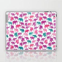 Watercolor Elephant Stampede Pretty Pattern Laptop & iPad Skin
