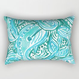 BLUE WHALE TWIRL Rectangular Pillow