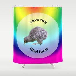 Save the kiwis Shower Curtain