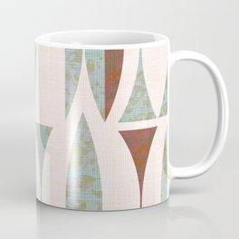 Seventies Aqua and Wood Coffee Mug