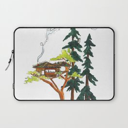 Forest Tree House - Woodland Potted Plant Laptop Sleeve
