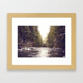 Divinity on the Salmon River Framed Art Print