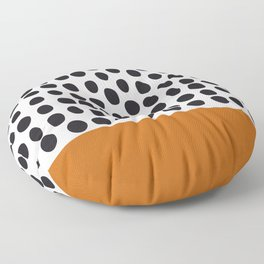 Classy Handpainted Polka Dots with Autumn Maple Floor Pillow