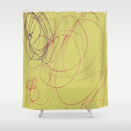 yellow swirl Shower Curtain