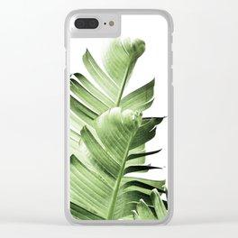 Banana leaves, Leaf, Plant, Modern, Wall Art, Tropical Clear iPhone Case