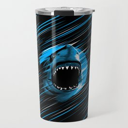 Shark Lines attack Travel Mug