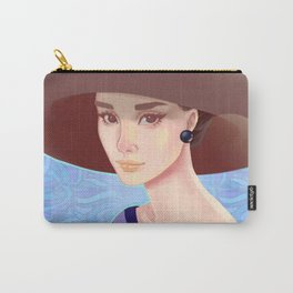 Girl in a hat at sea Carry-All Pouch
