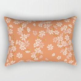 Sunset. Cherry Blossom. Rectangular Pillow