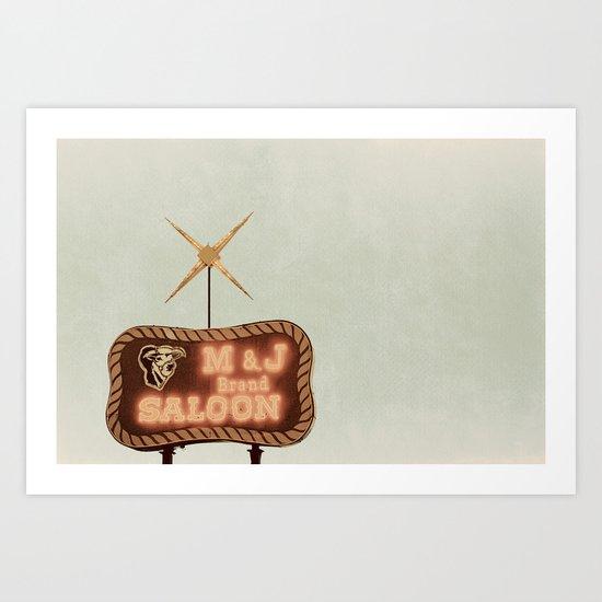 Retro Saloon Sign Art Print