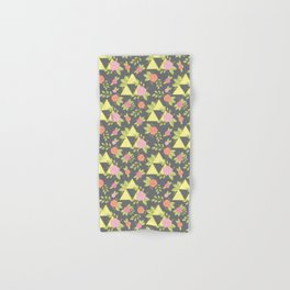 Garden of Power, Wisdom, and Courage Pattern in Grey Hand & Bath Towel