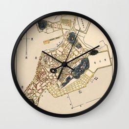 Map Of Macau 1953 Wall Clock