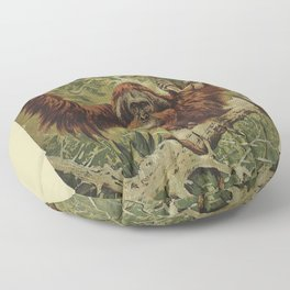 Old Man of the Forest Floor Pillow