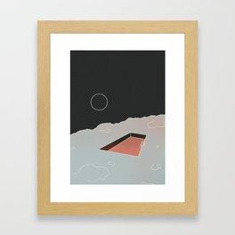 Moon Pool Framed Art Print