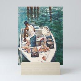 Conch Fisherman Mini Art Print