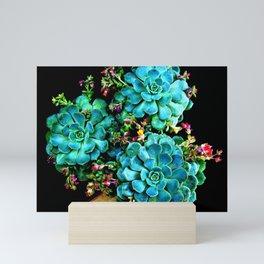 Beautiful Autumn Plant green, blue Mini Art Print