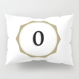 Vintage Number 0 Monogram Pillow Sham