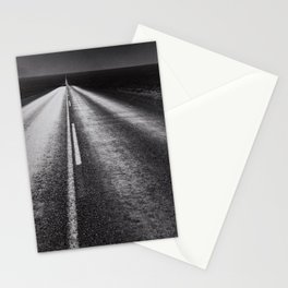 From Here to Eternity; the Road up Ahead of You black and white photography - photographs Stationery Cards