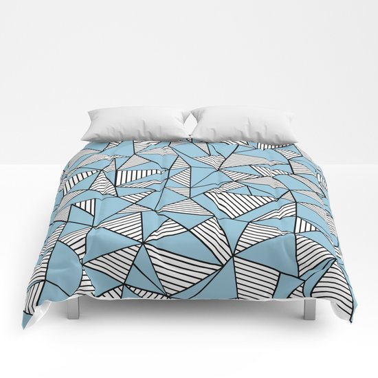 Ab Blocks Blue #2 Comforters