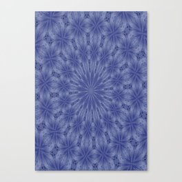 Blue and Mauve Abstract Kaleidoscope Canvas Print