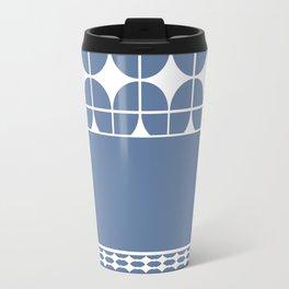 Decorative Cool Blue and White Pattern Design Travel Mug