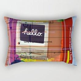 Hello Mac Rectangular Pillow