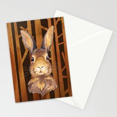 Rabbit in the forest- abstract animal hare watercolor illustration Stationery Cards