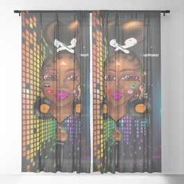 Music Love Her Sheer Curtain