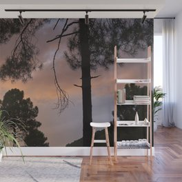 Sunset Through The Trees. Into The Woods. Wall Mural