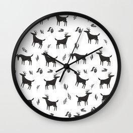 acorn and deer Wall Clock