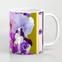 COLORFUL SPRING  PANSIES GARDEN COLLECTION Coffee Mug
