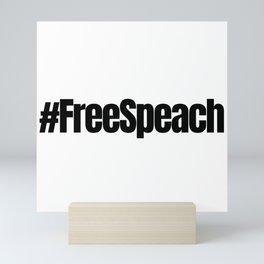 Free Speach, Free Assange Mini Art Print