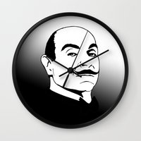 hercules Wall Clocks featuring Hercules Poirot. by T-shirtevolution.com