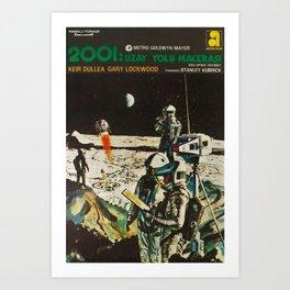 2001 A Space Odyssey 1968 Turkish Lobby Broadside Vintage Film Poster Art Print
