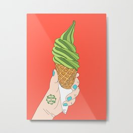 Matcha Ice Cream! Metal Print